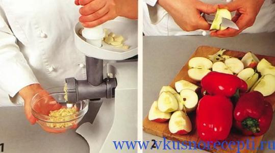 рецепт с фото №1 - аджика с яблоками