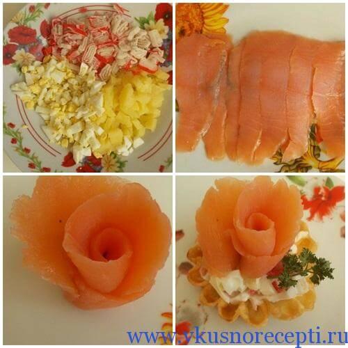 салат из красной рыбы рецепт классический