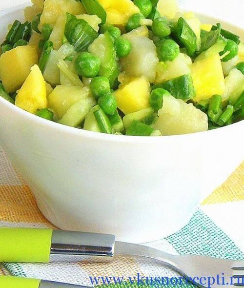 рецепт салата из черемши с картофелем
