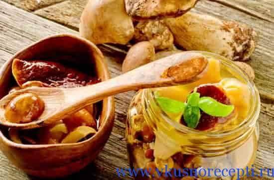 рецепт маринованные белые грибы фото