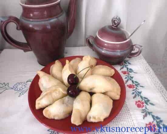рецепт вареников с фруктами
