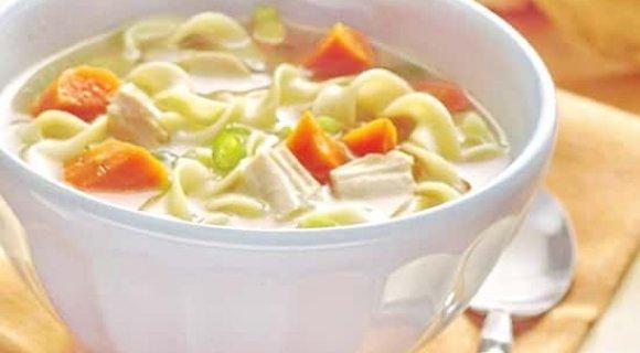 рецепт куриного супа с домашней лапшой